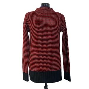 Sanctuary Black and Red Knit Long Sleeve Sweater